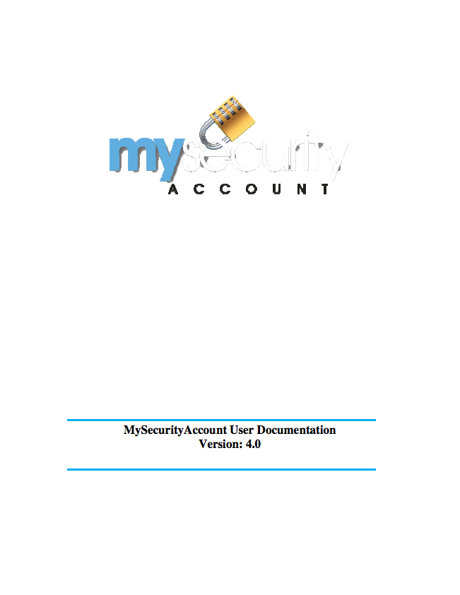 My Security Account User Guide
